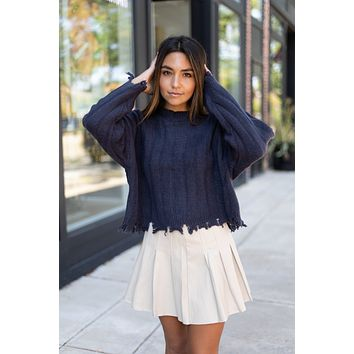 No Matter The Day Sweater - Navy