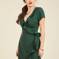 Ruffle and Bustle Wrap Dress | Mod Retro Vintage Dresses | ModCloth.com