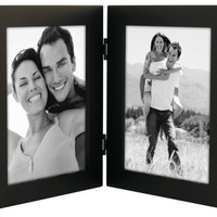 """Malden Linear Black Picture Frame holds two 5""""x 7"""" pictures Vertically"""