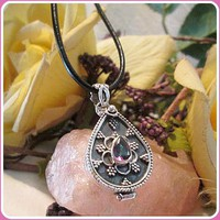 """""""What's Your Poison"""" Mystic Topaz Sterling Silver Pendant Necklace"""