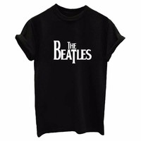 THE BEATLES Letters Print Women tshirt Cotton Casual Funny t shirts For Lady Top Tee Hipster Drop Ship Tumblr SB03