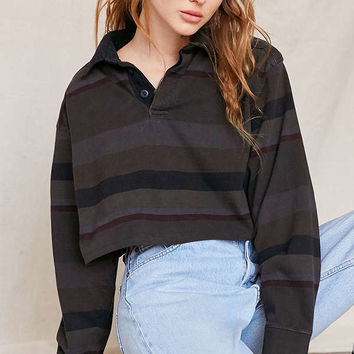 Urban Renewal Remade Assorted Cropped Rugby Shirt | Urban Outfitters
