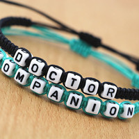 Couples Bracelets Set, Doctor Who Inspired Bracelets, Doctor Companion Bracelets, Anniversary Gift, Personalized Birthday Gift, Friendship