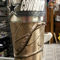 NFL Dallas Cowboys 16oz Stainless Steel RealTree Camouflage Travel Tumbler