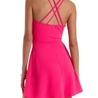 Strappy Racer Front Skater Dress by Charlotte Russe