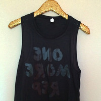 One More Rep - Mirror tank - Muscle Tank - Ruffles with Love - Womens Fitness Clothing - Workout Tank