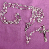 Vintage Chapel Sterling Rosary beads