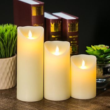 LED Electronic Flameless Candle Lights Remote Control Simulation Flame Flashing Candle Lamps Household Decoration 2017 New