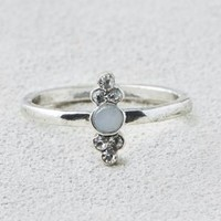 AEO Silver Sparkle Stone Ring , Silver | American Eagle Outfitters