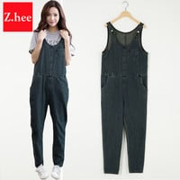 Loose Thin Straps Demin Rompers Womens Jumpsuit Harem Pants Female Boyfriend Overalls For Women Jumpsuits And Rompers women