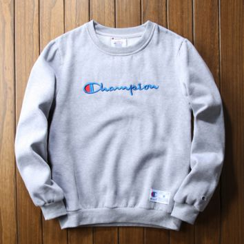 Champion embroidery sweethearts outfit thickening Grey