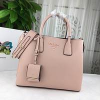 prada women leather shoulder bags satchel tote bag handbag shopping leather tote crossbody 195