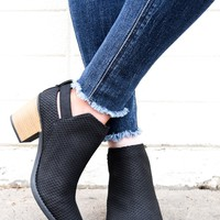 Walking Through Fall Bootie Black