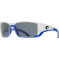 Costa Blackfin Limited Edition Polarized Sunglasses - 580 Polycarbonate Lens Matte Crystal w/ Blue Trim/Gray, One