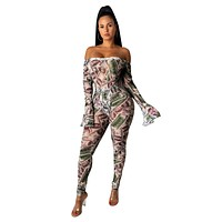 fhotwinter19 hot sale women's sexy dollar print jumpsuit