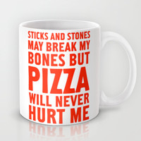 Pizza Will Never Hurt Me Mug by LookHUMAN