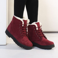 Winter Boots Women Warm Fur Ankle Boots Warm Winter Shoes