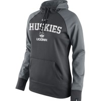 Nike Women's UConn Huskies Anthracite Platinum All Time Performance Hoodie   DICK'S Sporting Goods