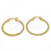 Gold Layered Large Hoop, Golden Tone