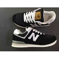 """New Balance"" Trending Classic All-Match N Words Breathable Couple Sneakers Shoes Black I"