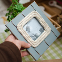 Mediterranean Sea Style Vintage Weathered Photo Frame Accessory Gifts Home Decor [6281748742]
