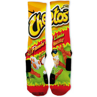Lime Hot Cheetos Custom Nike Elite Socks
