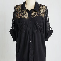 Mid-length Short Sleeves Adventures in Lace Top