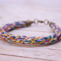Braided Cord Bracelet - made with hand dyed yarn