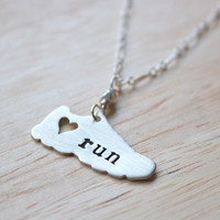 I love running necklace by AbellaBlue on Etsy
