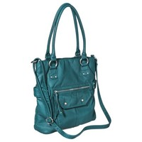 Mossimo® Textured Tote Handbag with Crossbody Strap - Teal