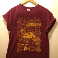 Arctic Monkeys Suck It And See Lyrics Compilation tshirt for merry christmas and helloween