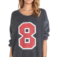 Rebel Yell Number 8 Strokes Warm Up Sweatshirt in Charcoal