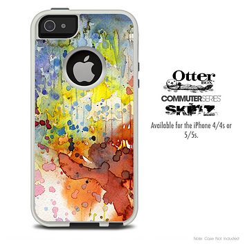 The WaterColor Grunge Setting Skin For The iPhone 4-4s or 5-5s Otterbox Commuter Case
