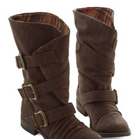 ModCloth Rustic Trio So Ready Boot in Brown