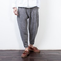 Men's Fashion Winter Pants Patchwork Thicken Casual Skinny Pants [7929371715]