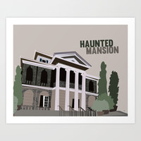 new Orleans square.. haunted mansion Art Print by Studiomarshallarts