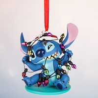 Disney Store Stitch with Bulbs 2016 Sketchbook Christmas Ornament New w Tags