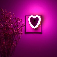 Heart Shaped Night Light 1pc