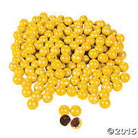 Shimmer Yellow Chocolate Candies