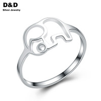 2016 New 100% 925 Sterling Silver Ring Children Jewelry Elephant Rings For Women Fashion Designer  party Gift Fine cute PYBE126