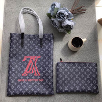 Louis Vuitton LV Vivienne Monogram Shopping Bag Tote + Flat Pouch