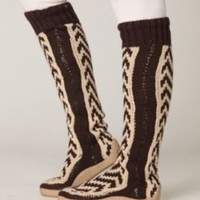 Chevron Tall Sock Boot at Free People Clothing Boutique