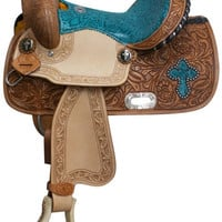 Saddles Tack Horse Supplies - ChickSaddlery.com Double T Barrel Style Saddle With Snake Print Accents