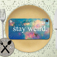 Stay Weird Space Galaxy Cute Tumblr Inspired Custom Rubber Case iPod 5th Generation and Plastic Case For The iPod 4th Generation