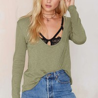 New Low Waffle Top - Olive