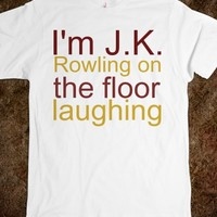 J.K. ROWLING ON THE FLOOR LAUGHING
