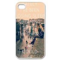 Vcapk Popular Rock Band One Republic Counting Stars Quote iPhone 4,4S Hard Plastic Phone Case