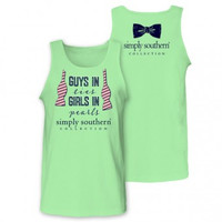 Simply Southern Ties & Pearls Tank - Mint