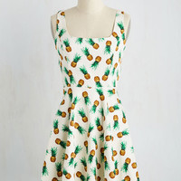 Very Charming Dress in Pineapples | Mod Retro Vintage Dresses | ModCloth.com