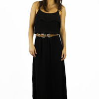 Elan Brunch Maxi Dress Black